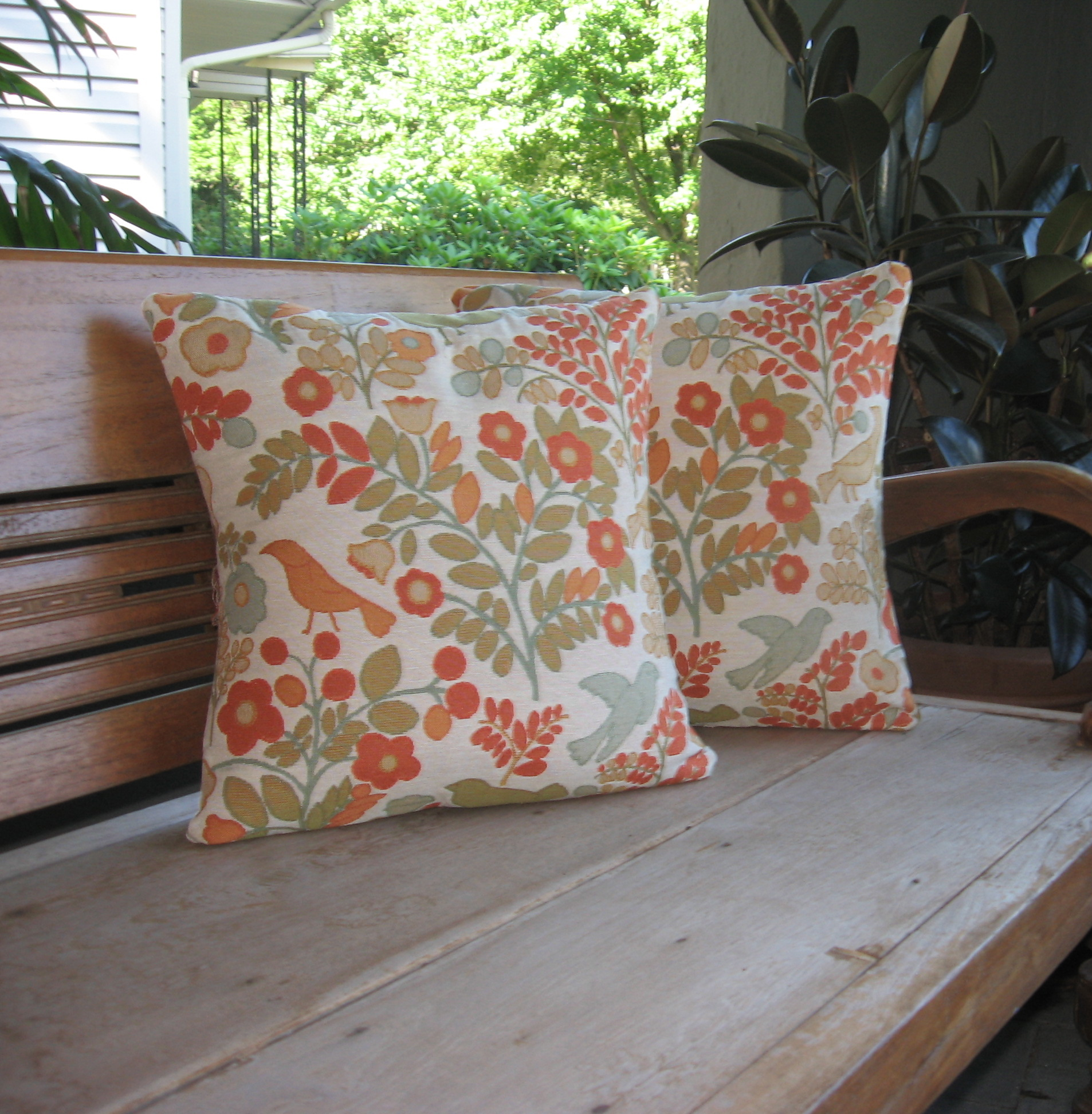 Our Crafty Home | New Pillows for the Porch