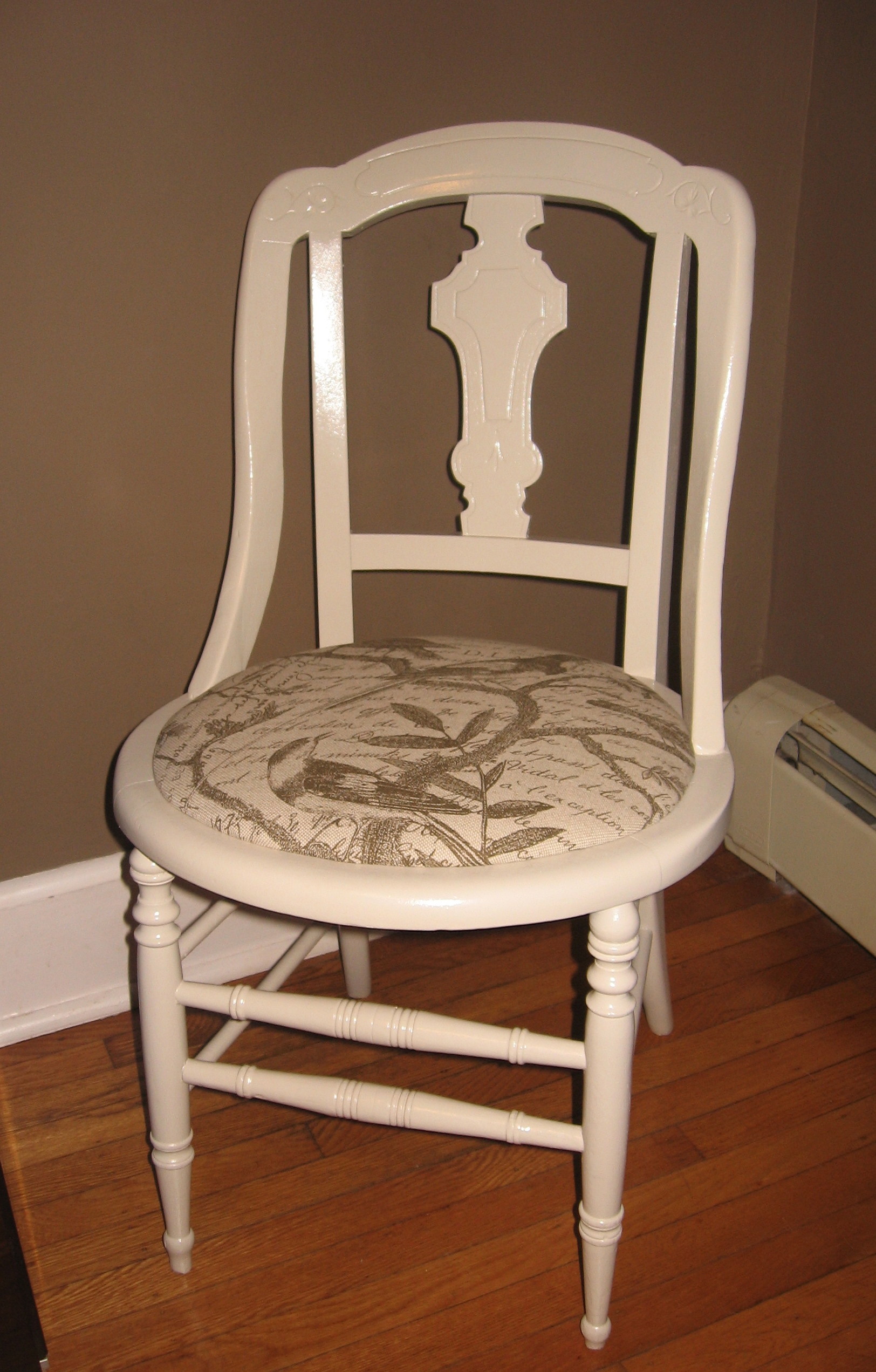 furniture tags bird fabric chair makeover cheap and easy diy chair
